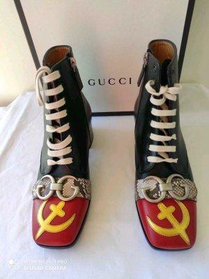 Gucci Patucos con cordones multicolor Cuero