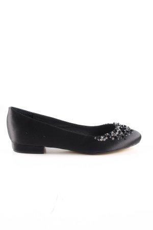 Menbur Ballerinas mit Spitze schwarz Elegant