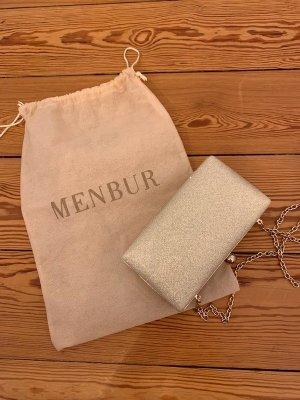 Menbur Clutch Glitzer Glitzer Champagner Neupreis 89€