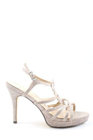 Menbur High Heel Sandaletten silberfarben Elegant