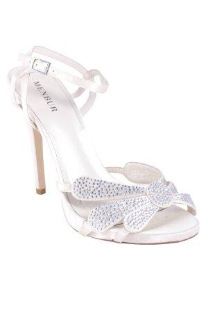 Menbur High Heel Sandaletten creme-silberfarben Elegant