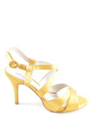 Menbur Riemchen-Sandaletten blassgelb Casual-Look