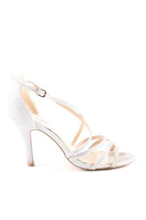 Menbur Riemchen-Sandaletten silberfarben Elegant