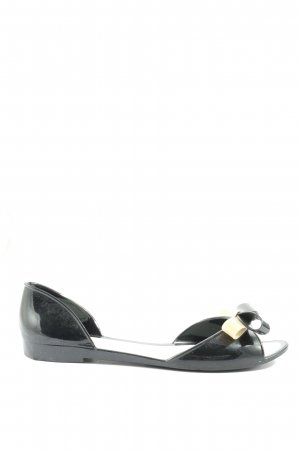 menghi Peep Toe Ballerinas black-cream casual look