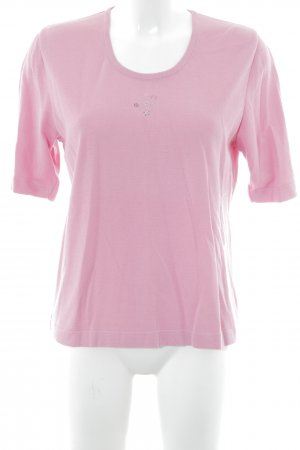 Menke Strickpullover rosa Blumenmuster Casual-Look