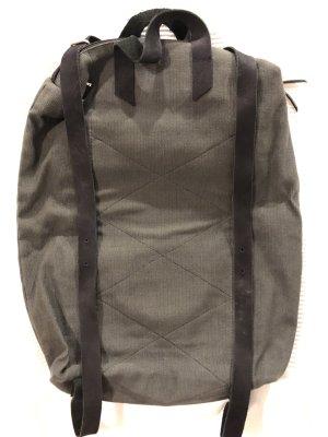 Mochila para portátiles negro-verde bosque fibra textil