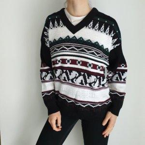 Menswear XL Oversize Pullover Hoodie Pulli Sweater Strickjacke Top Oberteil True Vintage