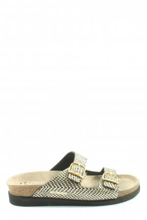 Mephisto Beach Sandals gold-colored-black casual look