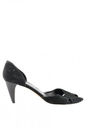 Mer du sud Peeptoe Pumps schwarz Business-Look