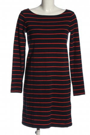 Mercer & Madison Langarmkleid schwarz-rot Streifenmuster Casual-Look