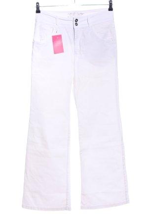 Mergler Five-Pocket-Hose weiß Casual-Look