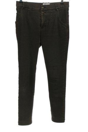 Mergler Pantalone cinque tasche nero stile casual