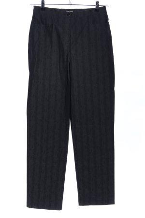 Mergler High-Waist Hose schwarz Streifenmuster Casual-Look