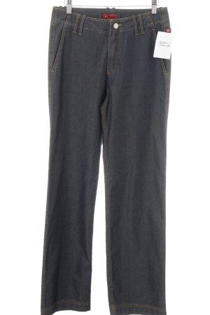 Mergler Straight-Leg Jeans stahlblau Casual-Look