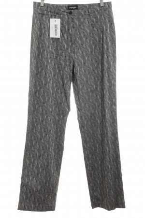 Mergler Stretchhose hellgrau grafisches Muster Casual-Look