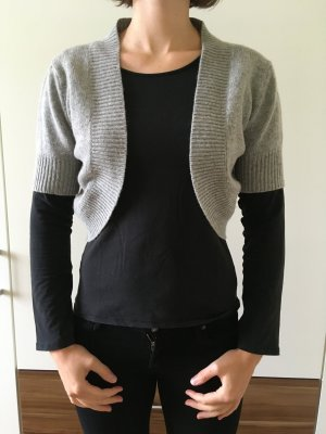 GCfontana Knitted Bolero light grey-grey merino wool