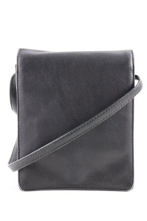 Merlin Lederwerkstatt Minibolso negro estilo «business»