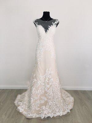 Mermaid Fit&Flare Trompete Brautkleid Hochzeitskleid Gr. 40 Blush/Ivory