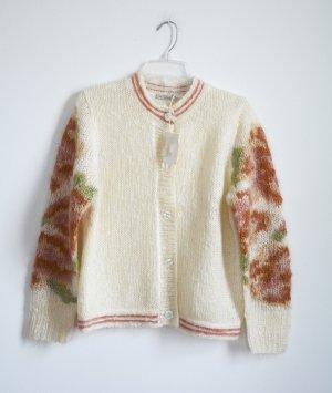 Mes Demoiselles Coarse Knitted Jacket cream-dark red mohair