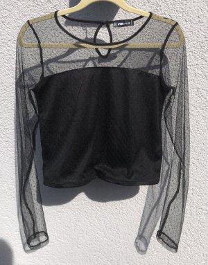 FB Sister Cropped Shirt black