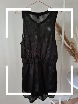 Monki Kurzer Jumpsuit black
