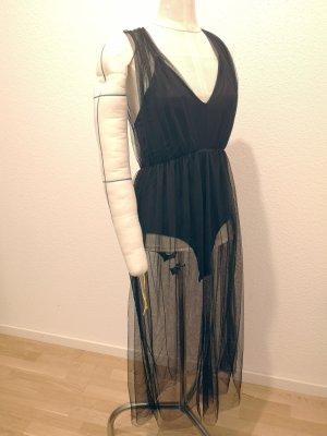 Mesh Kleid / Top mit Body Zara Woman Gr. S neuwertig