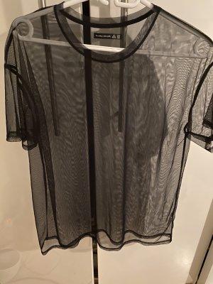 Bershka Netshirt zwart Polyester
