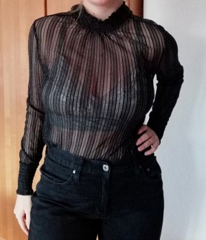 Only Lace Top black-silver-colored