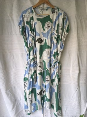 meshit all-over viskose print dress