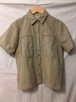 Leather Shirt beige-camel imitation leather