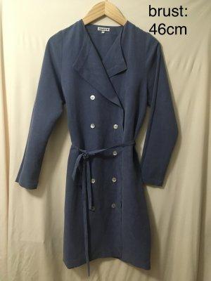 Gabardina tipo vestido azul celeste-azul acero Viscosa