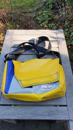 Torba z klapą żółty-niebieski