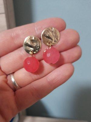 Zdobione kolczyki złoto-różowy