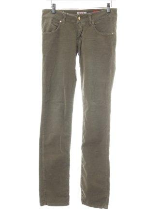MET Pantalone di velluto a coste marrone chiaro stile semplice