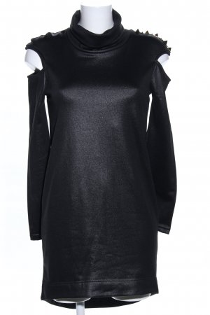 MET Vestido cut out negro elegante
