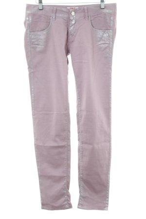 MET Hoge taille jeans rosé-roze extravagante stijl