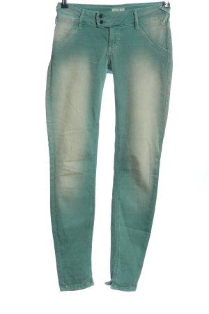 MET Pantalone a vita bassa verde stile casual