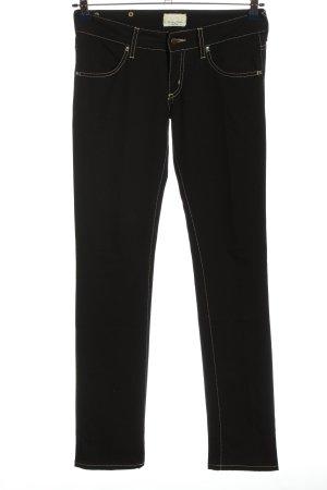 MET Pantalone a vita bassa nero stile casual