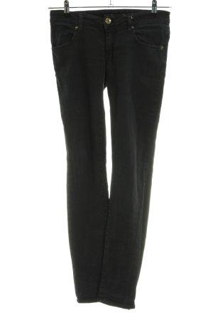 MET Jeans vita bassa nero stile casual