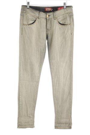 MET Jeans vita bassa grigio-verde stile stravagante