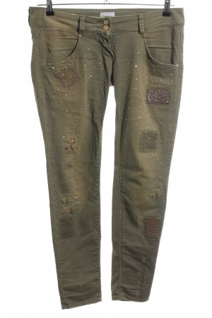 MET Jeans vita bassa cachi stile da moda di strada