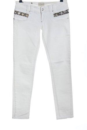 Met in Jeans Röhrenjeans weiß-schwarz Casual-Look