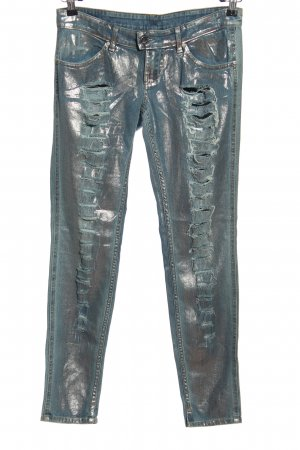 Met in Jeans Röhrenjeans türkis extravaganter Stil