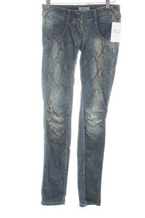 Met in Jeans Skinny Jeans Animalmuster Casual-Look