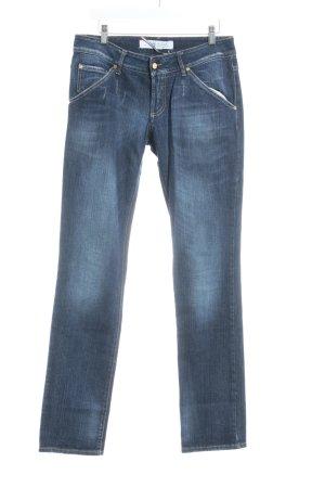Met in Jeans Slim Jeans dunkelblau Used-Optik