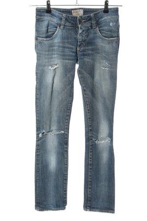 Met in Jeans Straight-Leg Jeans blau Street-Fashion-Look