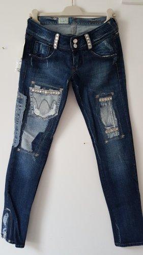 MET Jeans vita bassa blu scuro