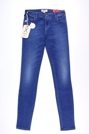 Met in Jeans Hoge taille jeans staalblauw