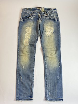 Met in Jeans Workowate jeansy błękitny Bawełna