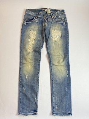 Met in Jeans Baggy Jeans azure cotton